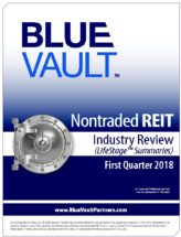 Icon of Nontraded REIT Review Q1 2018 - LifeStage Summaries WM
