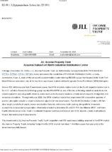 Icon of JLLIPT Press Release DFW Industrial Distribution Center Acquisition