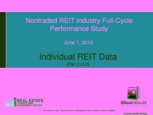 Icon of BV 1st Edition Full-Cycle Study WM - Part 2 - Individual REIT Data
