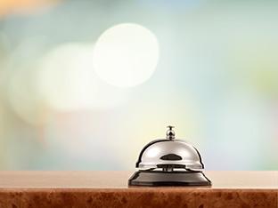 Hotel, bell, hospitality.